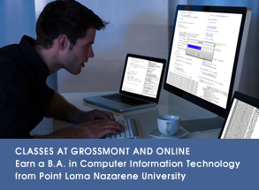 Classes at Grossmont for bachelor's degree at PLNU